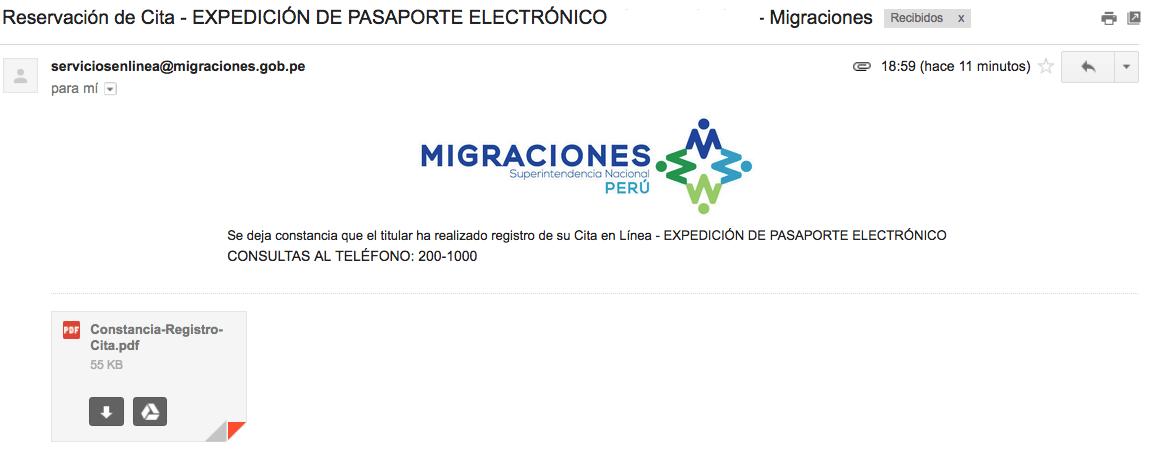 Migraciones Gob Pe Citas 825747